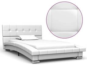 280622 vidaXL Cadru de pat, alb, 200 x 90 cm, piele artificială