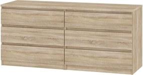 Comoda Naia, Tvilum 2x3 Sertare, 154x50x70 Cm