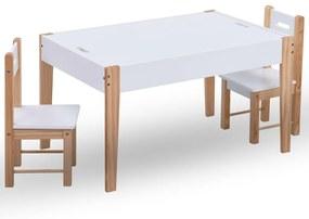 286189 vidaXL Set masă cu scaune pentru copii cu tablă, 3 piese, negru și alb