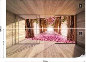Fototapet GLIX - Forest Blossom 3D  + adeziv GRATUIT Papírová tapeta  - 254x184 cm