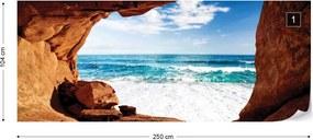 Fototapet GLIX - Beach Cave  + adeziv GRATUIT Tapet nețesute - 254x184 cm