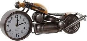 Ceas Motorcycle din metal maro cu galben 39x12x16.5 cm
