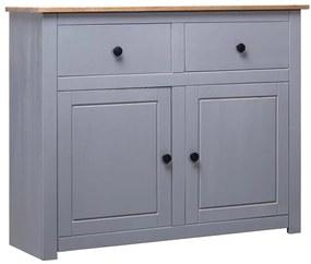 282698 vidaXL Servantă, gri, 93 x 40 x 80 cm, lemn masiv pin, gama Panama