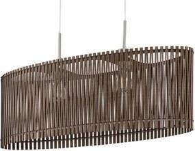 Lustra tip pendul Sandero III lemn/otel, maro, 2 becuri, 230 V