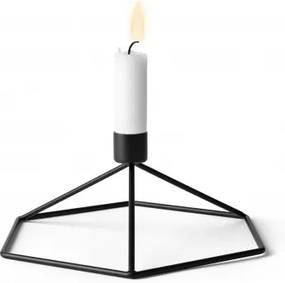Suport lumanare POV Candleholder Table Negru