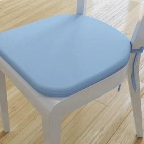 Goldea pernă pentru scaun rotundă din bumbac 39x37cm - albastru deschis 39 x 37 cm