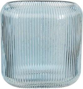 Vaza pentru flori din sticla albastra 19 cm x 7 cm x 16 h