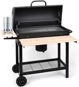 OneConcept Beefbutler, set de grătar pe cărbune BBQ-SMOKER, aprinzător electric 350 W