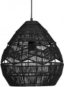 Lustra neagra din sfoara Adelaide Large