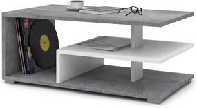 Mazzoni LINK beton (gri) / alb, masuta de cafea