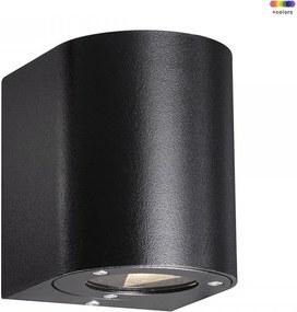 Aplica neagra din metal si sticla cu 2 becuri pentru exterior Canto Black Nordlux