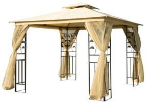 Outsunny Pavilion de grădină de lux Cort pentru Grădină 3x3 m
