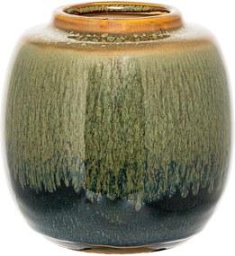 Vaza Decorativa Verde din Ceramica - Ceramica Verde Diametru(13.5 cm) x Inaltime( 14.5 cm)