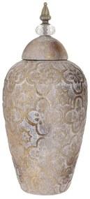 Vas din ceramica Antique Gold cu capac 18 cm x 44 cm