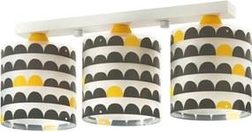 Dalber Wonder 70653 Plafoniere pentru copii alb galben 3 x E27 max. 60W 20,5 x 51 x 15 cm