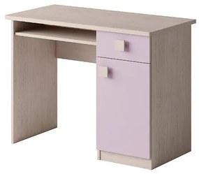 Expedo Birou SPARTAN, 76x100x50, Stejar santana/violet