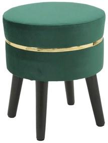 Taburet PARIS, verde, 35X40.5 cm, Mauro Ferretti