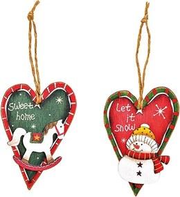 Decoratiune inima din lemn 8 cm - 4 modele