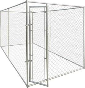 Padoc de exterior pentru câini, 200 x 400 x 195 cm