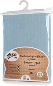 Cearceaf cu elastic din bambus 60x120 cm Albastru XKKO