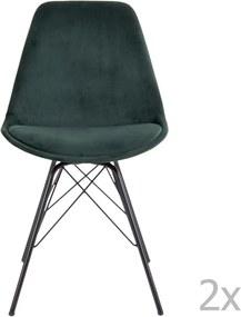 Set 2 scaune House Nordic Oslo, verde închis