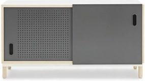 Bufet inferior gri/maro din MDF si otel 114 cm Kabino Normann Copenhagen