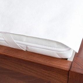 Protecţie impermeabilă pentru saltea din frotir alb 200 x 220 cm