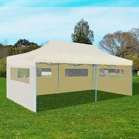 41582 vidaXL Cort de petrecere pliabil pop-up, crem, 3 x 6 m