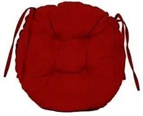 Perna decorativa rotunda, pentru scaun de bucatarie sau terasa, diametrul 35cm, culoare visiniu