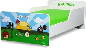 Pat copii  Angry Birds 2-8 ani cu saltea cadou