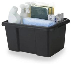 Cutie neagra din plastic, 14 litri, 38x29x19.5 cm