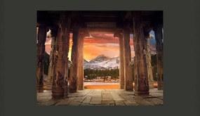 Fototapet Bimago - Trail of rocky temples + Adeziv gratuit 200x154 cm