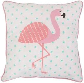 Pernă decorativă Flamingo, bumbac 100%, 38 x 38 cm