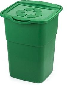 Coș pentru selectare deșeuri Eco Master 50 l, verde