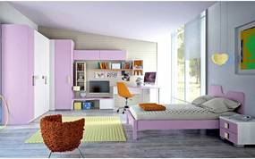 Dormitor complet Complete bedroom Eresem C104 Colombini home modern and colorful