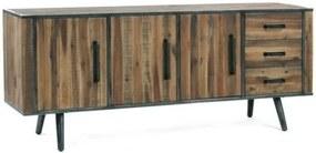 Comodă din lemn masiv de salcâm Massive Home Robbie, 190 x 80 cm