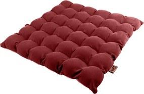 Pernă pentru șezut cu bile pentru masaj Linda Vrňáková Bubbles, 65 x 65 cm, roșu