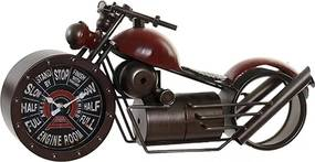 Ceas Motocicleta din metal rosu 50x25 cm