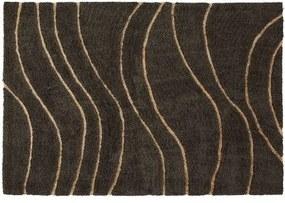 Covor din lana, vascoza si iuta GATTMAN gri inchis, 160x230cm