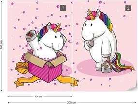 Fototapet GLIX - Unicorn Surprise + adeziv GRATUIT Tapet nețesute - 254x184 cm