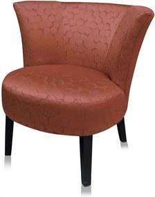 Scaun lounge portocaliu din poliester si lemn Marte