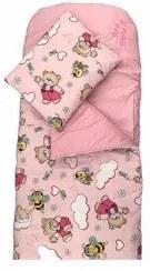 Deseda - Sac de dormit buzunar de iarna  Ursi cu albine pe roz