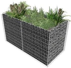 Jardinieră pentru plante din oțel, 180 x 90 x 100 cm, argintiu