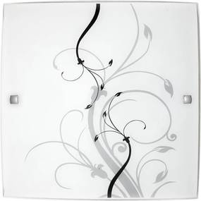 Rábalux Elina 3692 Plafoniere alb negru E27 1x MAX 60W 300 x 300 mm
