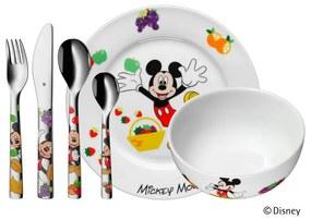 Set 6 tacâmuri din inox și veselă pentru copii Mickey Mouse