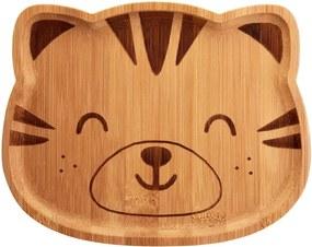 Farfurie din bambus pentru copii Sass & Belle Farmyard Friends Tiger