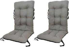 Set Perne pentru scaun de gradina sau sezlong, 48x48x75cm, culoare gri, 2 buc/set