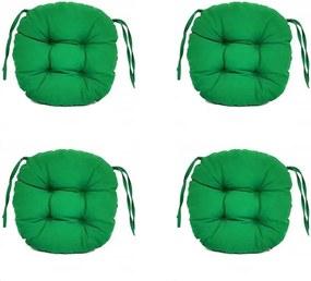 Set Perne decorative rotunde, pentru scaun de bucatarie sau terasa, diametrul 35cm, culoare verde inchis, 4 buc/set