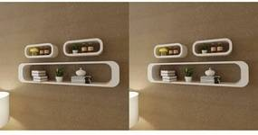 vidaXL Rafturi cub de perete, 6 buc., alb