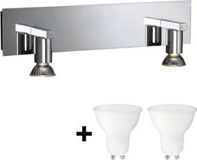 Massive 34026/11/10 - LED Aplică perete HORIZON 2xGU10/6W + 2xGU10/50W